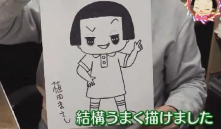 第78回 NHK「チコちゃんに叱られる!」植田まさし先生が直筆で描いたチコちゃんイラスト