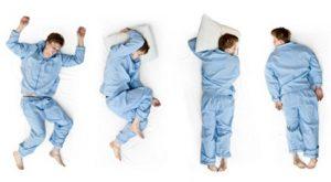 寝るときの姿勢 寝相の種類