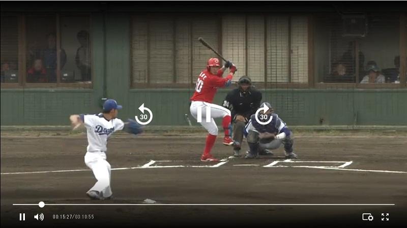 中日 vs 広島 オープン戦