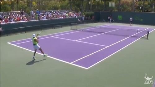 マイアミ・オープン R・ナダルの練習風景