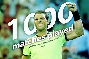 マイアミ・オープン3回戦でR・ナダルが通算1000試合出場