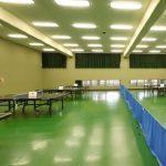 草加市スポーツ健康都市記念体育館の卓球場2
