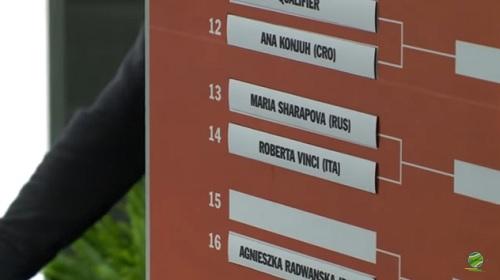 ポルシェ・テニスグランプリ 1回戦 M・シャラポワ vs R・ビンチ戦 ドロー