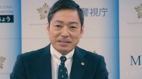 日曜劇場「小さな巨人」 会見場の小野田義信(香川照之)
