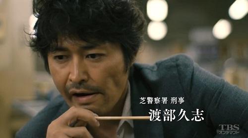日曜劇場「小さな巨人」 弁当を食う渡部久志(安田顕)