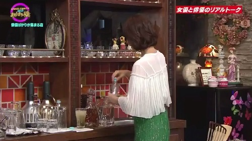 4月12日 天海祐希・石田ゆり子のスナックあけぼの橋 もう一つのグラスを忘れる石田ゆり子
