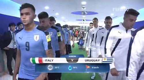 FIFA U-20 ワールドカップ 韓国大会2017 5月21日(日) グループD イタリア vs ウルグアイ戦 試合結果、ゴールシーン