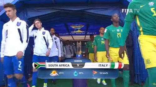 FIFA U-20 ワールドカップ 韓国大会2017 5月24日(水) グループD 南アフリカ vs イタリア戦 試合結果、ゴールシーン