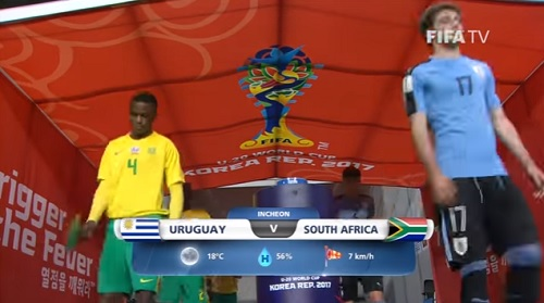 FIFA U-20 ワールドカップ 韓国大会2017 5月27日(土) グループD ウルグアイ vs 南アフリカ戦 試合結果、ゴールシーン