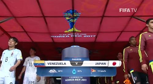 FIFA U-20 ワールドカップ 韓国大会2017 5月30日(火) 決勝トーナメント ラウンド16 ベネズエラ vs 日本戦 試合結果、ゴールシーン