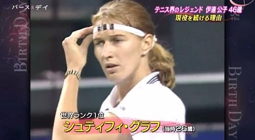 TBS「バース・デイ」伊達公子の戦いの記録 絶対的女王シュティフィ・グラフ