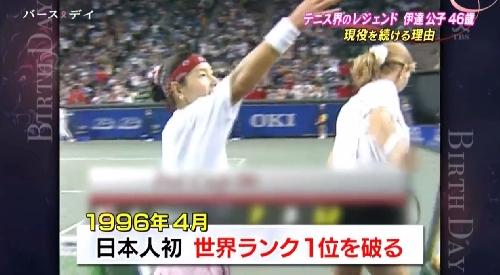 TBS「バース・デイ」伊達公子の戦いの記録 日本人として初世界ランク1位のシュティフィ・グラフを破る