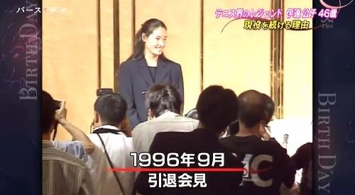 TBS「バース・デイ」伊達公子の戦いの記録 1996年9月に突然の引退会見