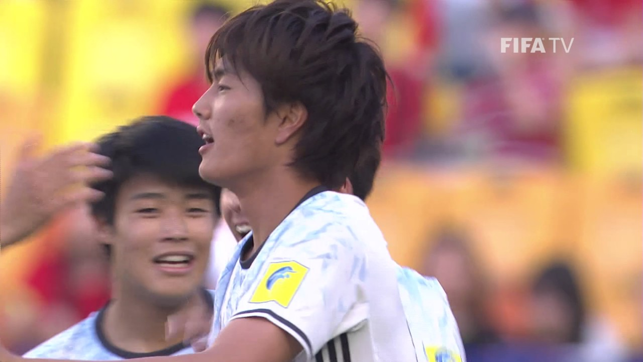 FIFA U-20 W杯 韓国2017 5月21日(日) 南アフリカ vs 日本戦 試合結果、ゴールシーン