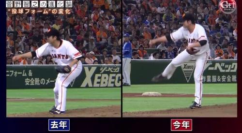 テレビ朝日「Get Sports(ゲットスポーツ)」 6月4日放送 巨人・菅野智之の進化 右足が前に出てきている