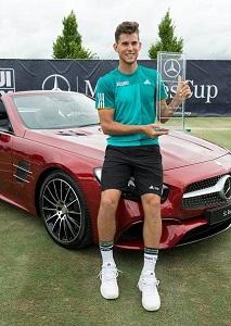 ドイツ・シュツットガルト(シュトゥットガルト)メルセデス・カップ(ATP250、芝) 2016年優勝者 ドミニク・ティエム 副賞のメルセデス・ベンツ