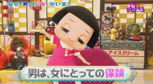 NHK 第2弾 「チコちゃんに叱られる!」男は、女にとっての保険
