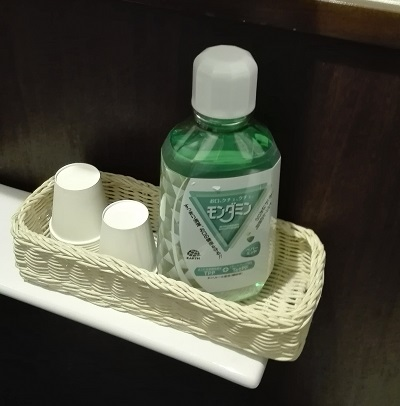 いきなり!ステーキ 五反田店 トイレ内の洗口液(モンダミン)