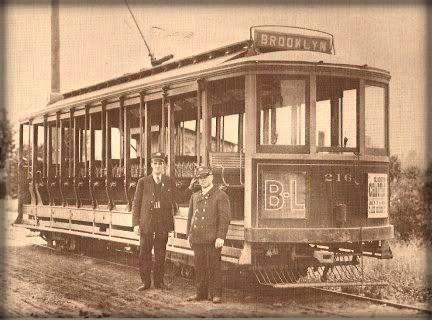 1895年ごろ ブルックリンの路面電車