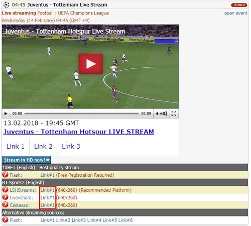 「Batmanstream.com」の使い方 チャンピオンズリーグ ダミーボタンは避ける