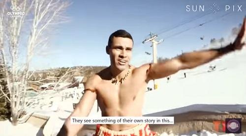スキー場で裸で踊るピタ・タウファトファ選手