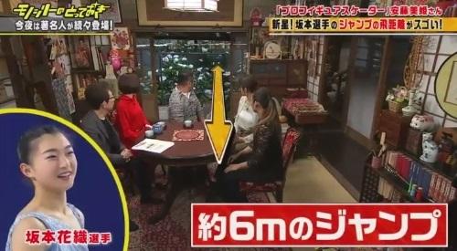 フジテレビ「モノシリーのとっておき」フィギュア 安藤美姫 坂本花織のジャンプは約6m