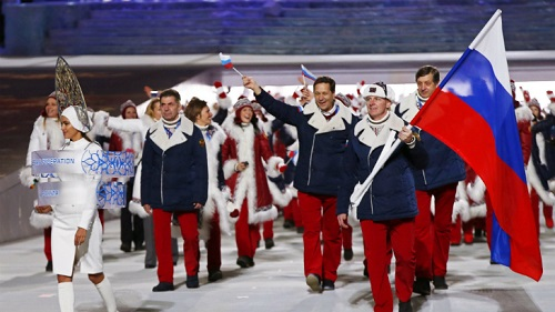 2014年 ソチオリンピック 開会式 入場行進 ロシア代表