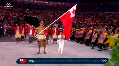 2016年リオオリンピック開会式 ピタ・タウファトファ選手