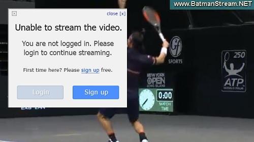 Batmanstream.comの使い方 錦織圭出場のニューヨーク・オープン 視聴ページ