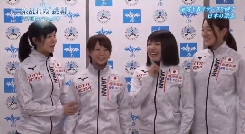 NHK 日本女子団体パシュートの4人 高木美帆、高木菜那、佐藤綾乃、菊池彩花