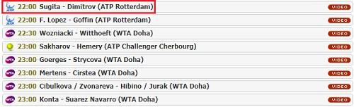 R・フェデラー、杉田祐一出場のABNアムロ世界テニス・トーナメント チャンネル