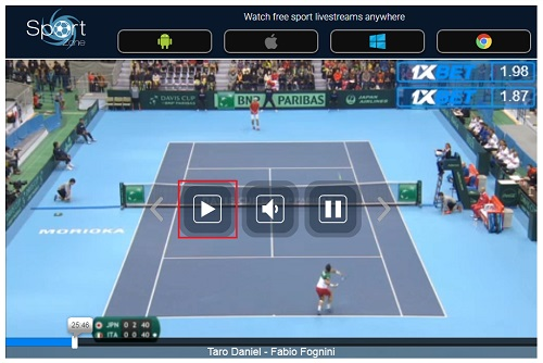 Sport streamの使い方 視聴画面の操作方法 見逃し配信