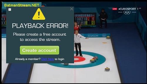 「Batmanstream.com」の使い方 視聴ページの広告
