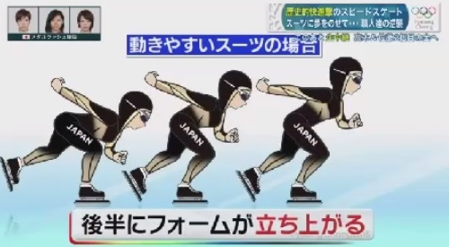 平昌オリンピック スピードスケート 新型スーツの開発秘話 後半のフォーム