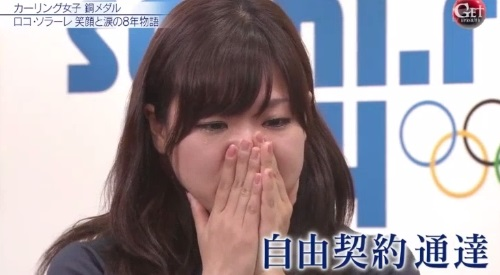 2014年 ソチオリンピック カーリング女子日本代表 吉田知那美 自由契約通達