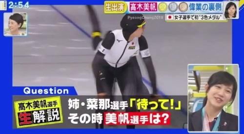 27日放送のフジテレビ系「直撃LIVE グッディ!」 高木美帆のセルフ解説 待っての声に?