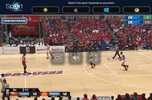 Bリーグのストリーミング視聴方法 Sportstream 操作方法