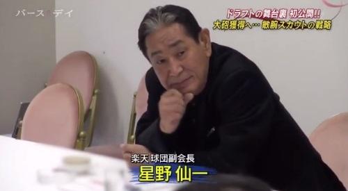 TBS バース・デイ 楽天イーグルス 球団スカウト 球団副会長 星野仙一