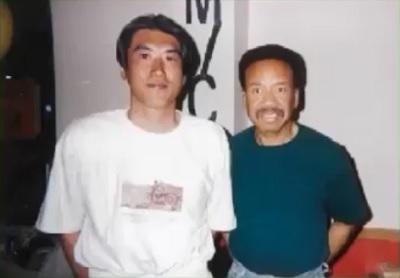 第2回「石橋貴明のたいむとんねる」タカさんとモーリス・ホワイトの2ショット写真