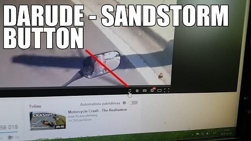 YouTubeの2015年エイプリルフールネタ Darude - Sandstormボタン