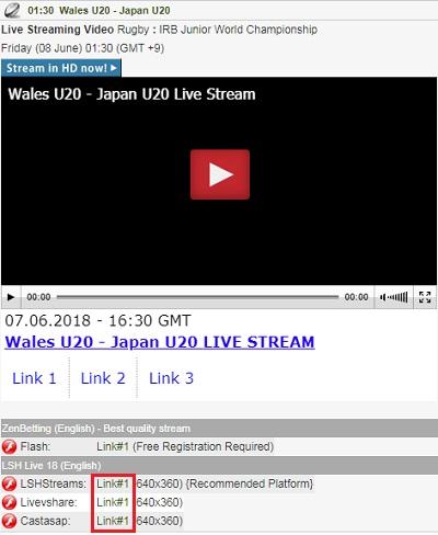 日本代表出場のワールドラグビーU20選手権 試合中継