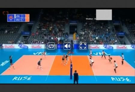 FIVBバレーボール・ネーションズリーグ(女子・男子)の全試合をネットのライブストリーミング放送で無料視聴するには 視聴画面