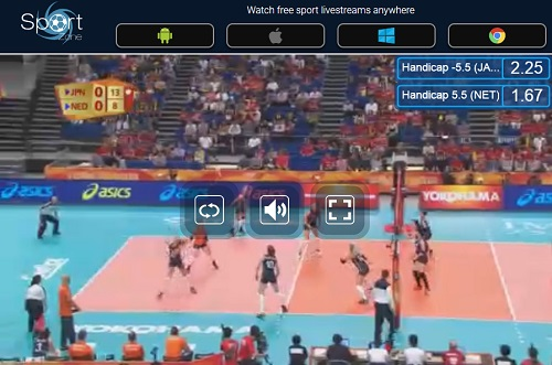 世界バレー女子の全試合をネットのライブストリーミング放送で完全無料で視聴するには 操作画面