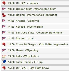 UFC 229 コナー・マクレガーVSハビブ・ヌルマゴメドフの試合をネットのライブストリーミング放送で無料で観るには チャンネル01