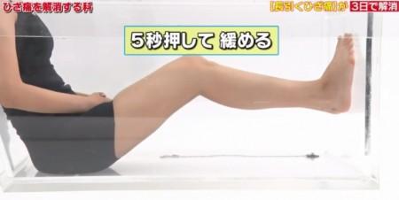 たけしの家庭の医学で紹介!膝痛を3日で解消する簡単運動のやり方。軟骨ではない新原因とは?太もも力こぶ運動のやり方 5秒押して緩める