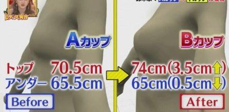 鈴木奈々が関西コレクションの舞台裏で行われる即効バストアップ方法に挑戦育乳マニアおすすめバストアップ法も 施術前後のビフォーアフター