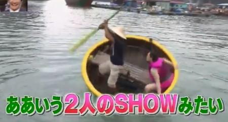 「イッテQ遠泳部第3弾」女芸人SP!ベトナム伝統の丸い竹かご船「トゥエントゥン」で見事にシンクロするバービー「ああいう2人のSHOWみたい」