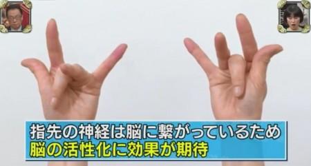 梅ズバ紹介!大人気のきくち体操13種類のやり方。肩こり・腰痛改善・疲労回復におすすめ 手のひら体操のやり方 中指を親指の付け根に