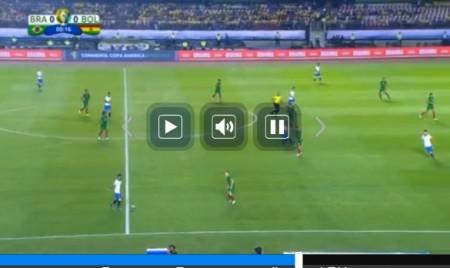 コパアメリカ全試合をネットの無料ライブストリーミング放送で視聴するには 開幕戦 ブラジル vs ボリビア戦の視聴画面 見逃し配信の操作