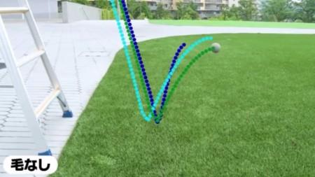 テニスボールに毛がある理由その1 バウンドが安定するから。毛なしの特殊なテニスボールを弾ませる実験